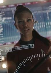 Zoë Saldana as Uhura in Star Trek (2009).