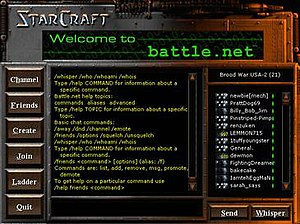 The Battle.net interface in StarCraft