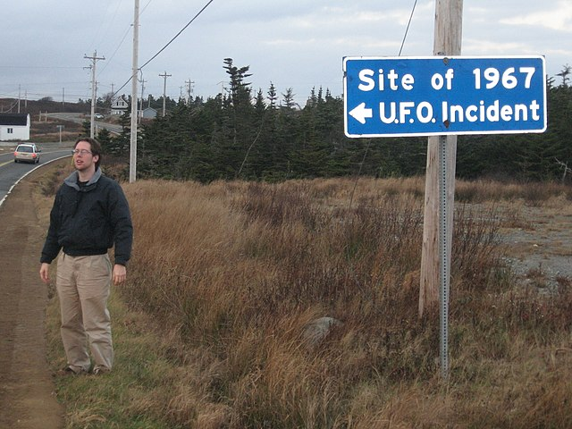 Shag Harbor Sign Identifying the 1967 UFO Incident.