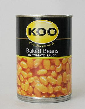 A can of Koo baked beans.