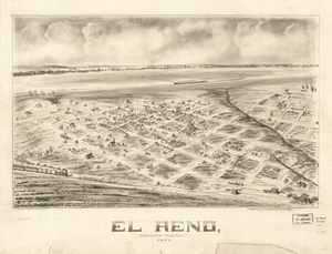 Panoramic map of El Reno, 1891.