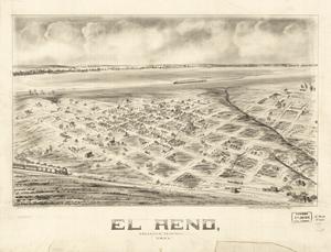 Panoramic map of El Reno, 1891.