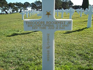 Theodore Roosevelt Jr.'s grave marker at the A...