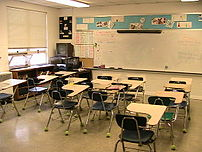 Typical elementary school classroom.