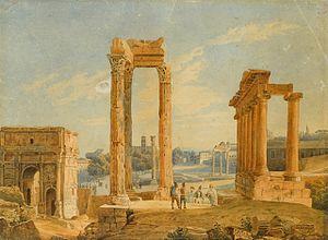 Karl Bryullov The Roman Forum, 1836, watercolour.