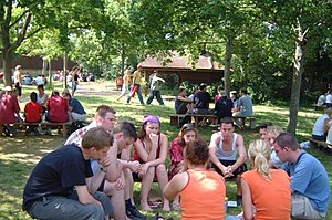 Small discussion groups.
