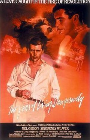 Film poster for The Year of Living Dangerously...