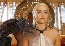 Daenerys Targaryen with Dragon-Emilia Clarke.jpg