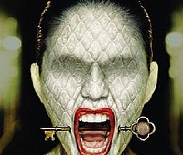 American Horror Story Hotel Dvd Cover Art For Ahs Hotel Showing A Woman Screaming With A Key Stuck From