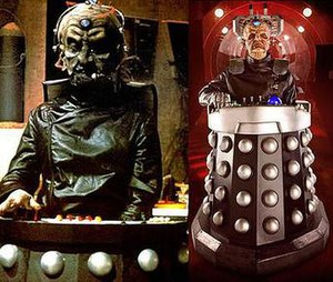 A side-by-side comparison of Davros in Destiny...