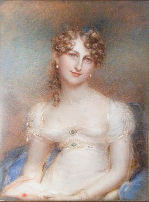 A 19th century Scottish woman with curly hair ...