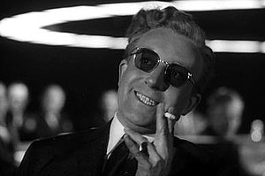 Peter Sellers as the title character from Dr. ...