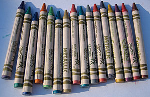 "The sixteen Crayola ""Metallic FX"" sp..."