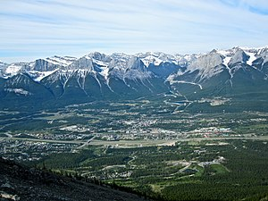 View of Canmore, AB from the abandoned tea hou...
