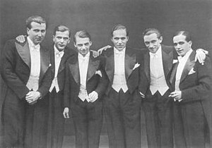 Comedian Harmonists (from left: Robert Biberti...