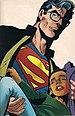 A shaken Clark Kent, unconcerned about his sec...