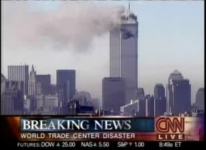 CNN breaking the news of a plane crash at the ...