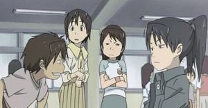 From left to right: Daichi, Yasako, Fumie, and...