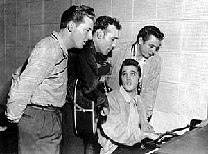 The million Dollar Quartet. L to R: Jerry Lee ...