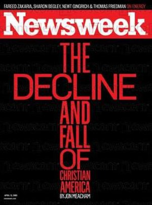 April 13, 2009, cover of Newsweek magazine