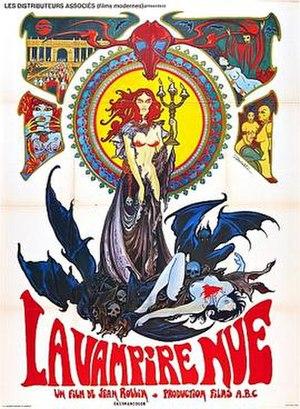 Film poster for La Vampire Nue - copyright 196...