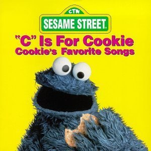 The Muppet Cookie Monster, on the cover of his...