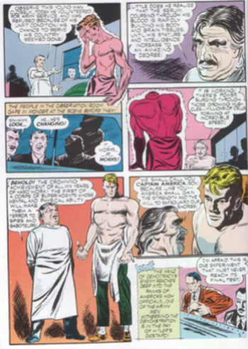 Steve Rogers' physical transformation, from a ...