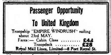 Image result for windrush newspaper adverts
