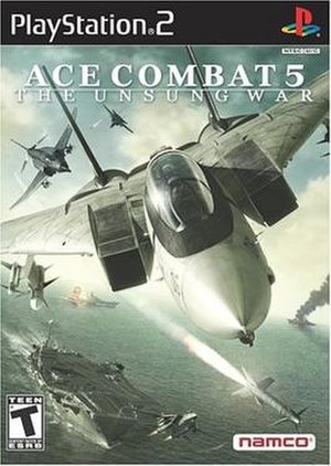 Ace Combat 5 US box art