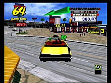 The Player Follows The On Screen Arrow To Deliver The Passenger To His Her Destination Before The Main Time Upper Left And The Passenger Timer Green