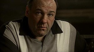 The final shot of Tony Soprano in