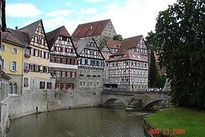 Houses in the centre of Schwäbisch Hall, next ...