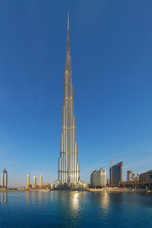 Burj Khalifa in Dubai is the tallest building ...