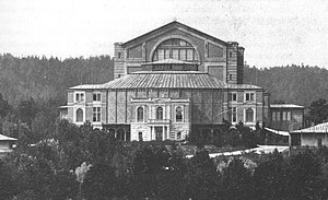 Bayreuth Festspielhaus, in which the Ring was ...
