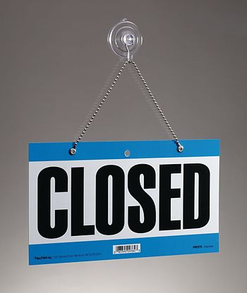 This is my picture of a closed sign. I am usin...
