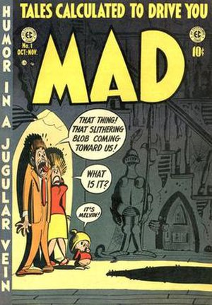 The first issue of Mad. Art by Harvey Kurtzman.