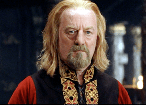 Bernard Hill as King Théoden in Peter Jackson'...
