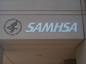 The Front of the SAMHSA building at 1 Choke Ch...