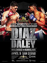 A poster or logo for Strikeforce: Diaz vs. Daley.