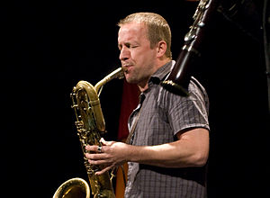 """Mats Gustafsson at """"Sonore"""" concert,..."""