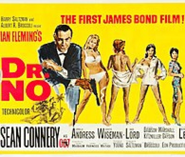 In The Foreground Bond Wears A Suit And Is Holding A Gun Four Female