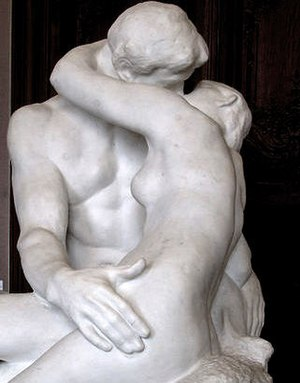 "Photo of statue titled ""The Kiss"
