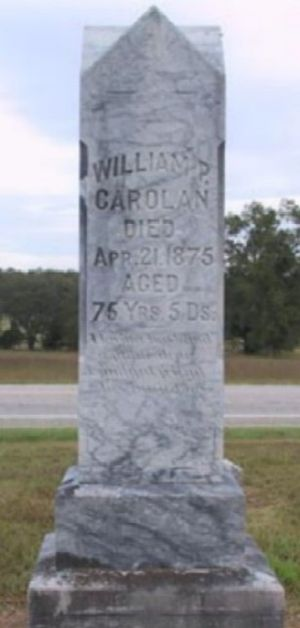 Headstone of William P.Carolan, patriarch and ...