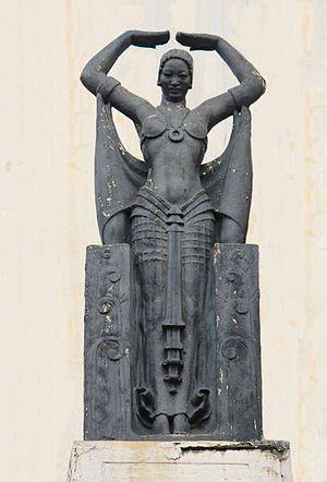 One of four Siamese dancer sculptures at the s...
