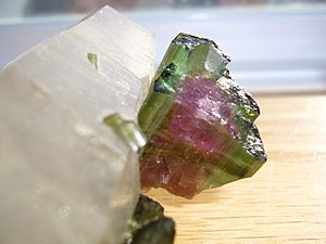 Watermelon Tourmaline in matrix from Minas Gerais