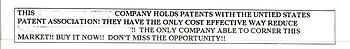 Modern patent scam