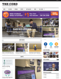 The Cord's website as of September 26, 2014