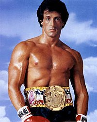 We associate with heroes, like Rocky Balboa