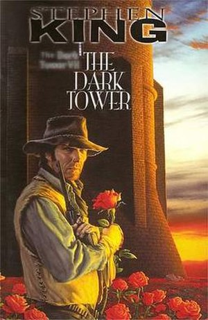 Roland standing by the Dark Tower and the Can'...