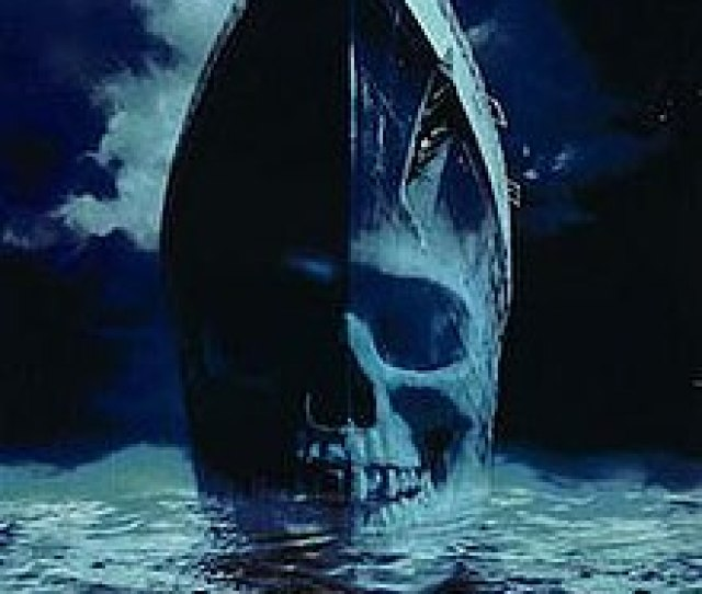 A Front View Of A Ship With A Ghostly Skull Superimpose On The Hull